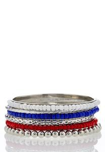 Seed Bead Multi Bangle Set