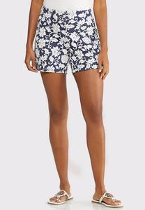 Jacquard Floral Shorts