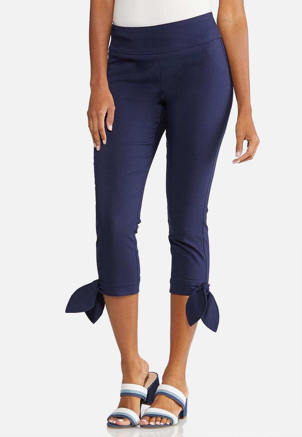 Cropped Slim Fit Pants