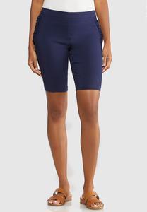 Ruffle Pocket Bermuda Shorts