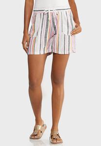 Stripe Linen Beach Shorts