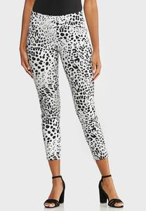 Cropped Snow Leopard Pants