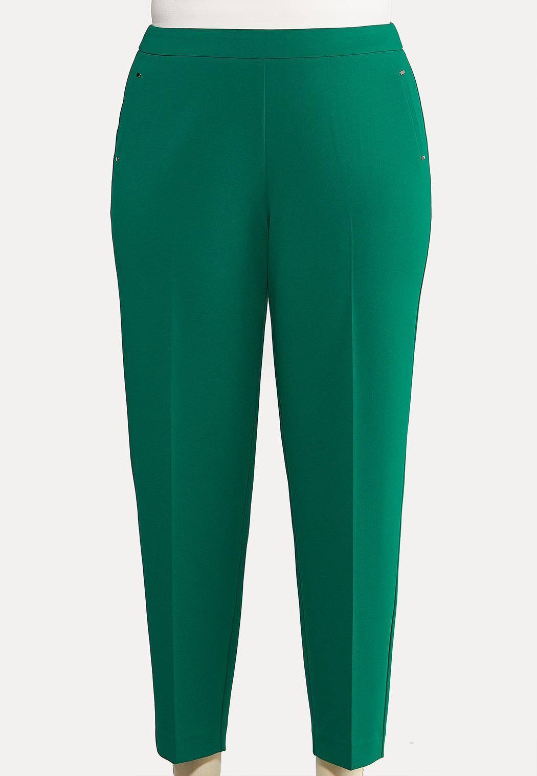 Plus Size Slim Leg Dressy Knit Pants