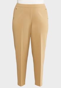Plus Petite Cropped Slim Knit Pants