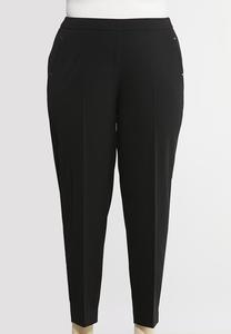 Plus Petite Slim Leg Dressy Knit Pants