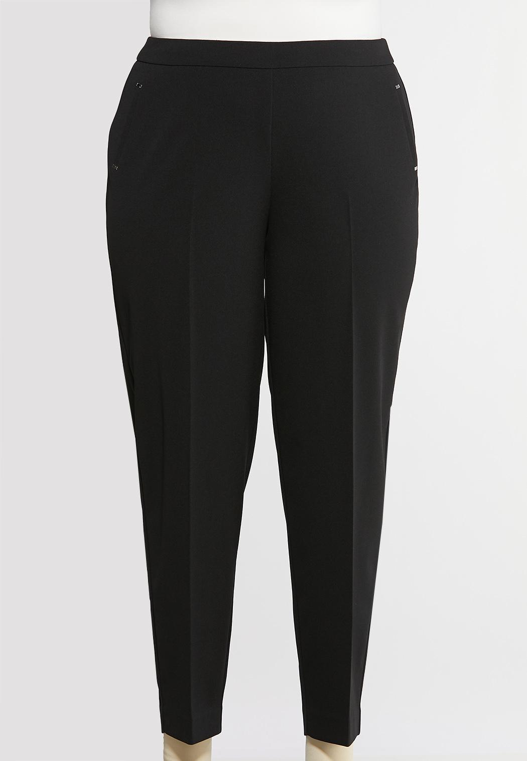 Plus Extended Cropped Slim Knit Pants