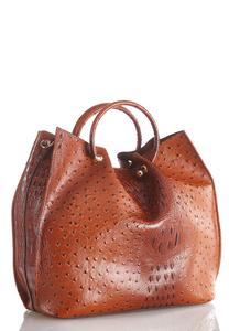 Oversized Cinched Ostrich Tote