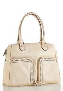 Studded Multi Pocket Hobo Handbag