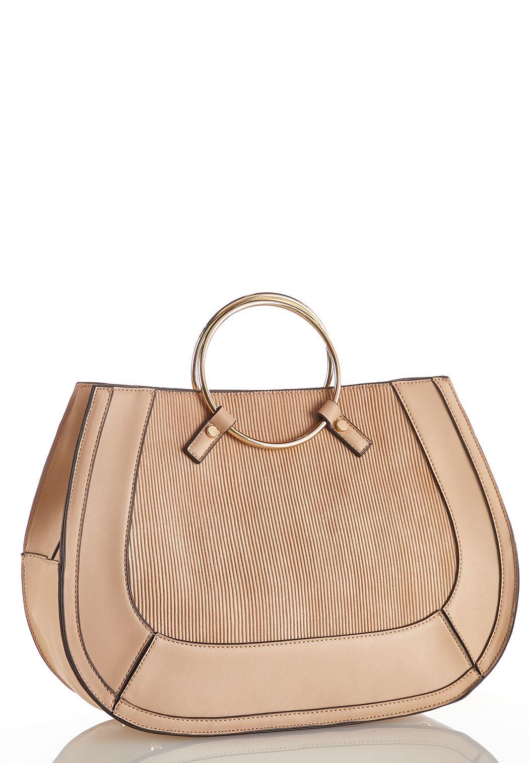 Ring Handle Corded Handbag