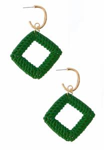 Woven Diamond Shaped Earrings