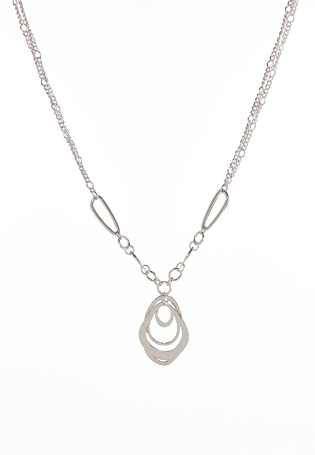 Oval Links Chain Pendant Necklace