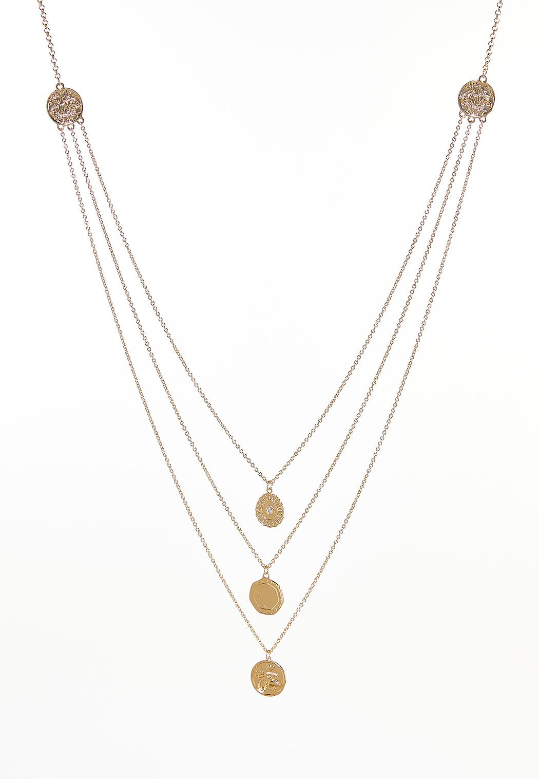 Layered Inspirational Disc Necklace