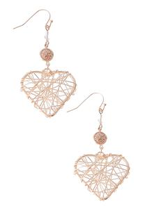 Caged Wire Heart Earrings