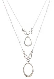Layered Open Oval Necklace