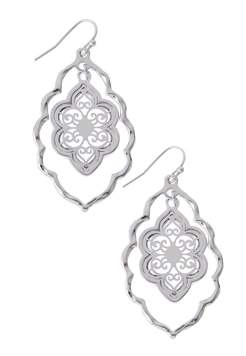 Fleur Silver Dangle Earrings