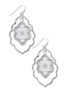 Fleur Silver Dangle Earrings
