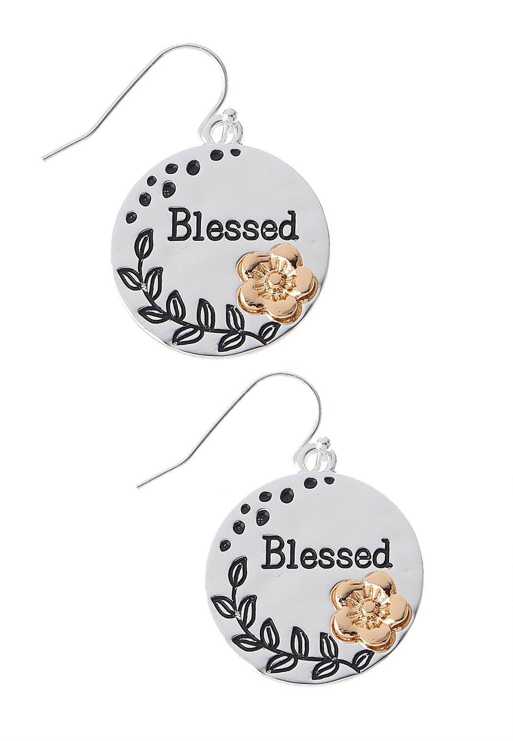 Blessed Disc Earrings