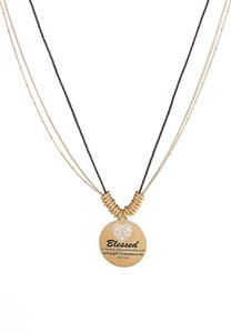 Luke Scripture Disc Pendant Necklace