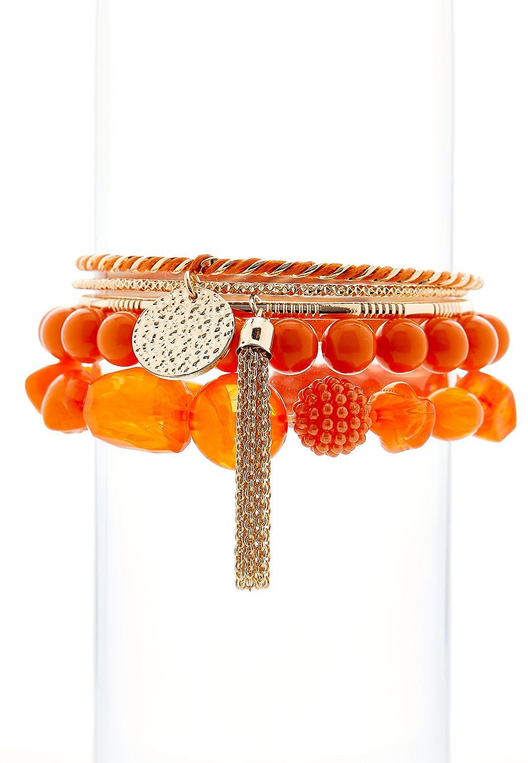 5 Piece Colored Bracelet Set