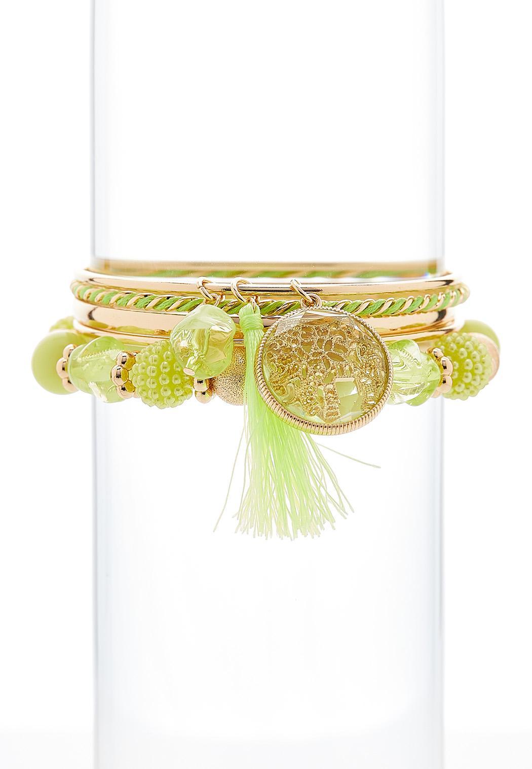 5 Piece Tasseled Bracelet Set