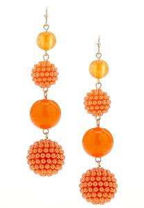 Bead Ball Linear Earrings