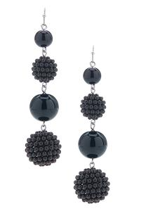 Bead Ball Linear Earrings