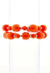 Color Bead Stretch Bracelet Set