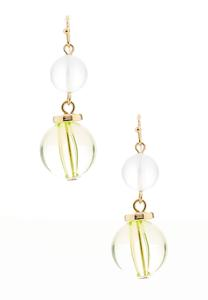 Lucite Ball Dangle Earrings