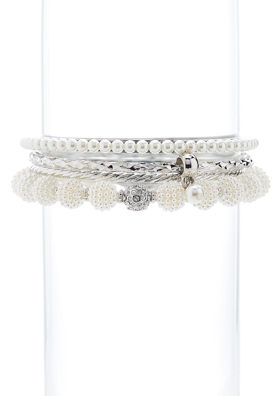 Ivory Pearl Bracelet Set