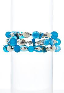 3 Row Color Bead Bracelet Set