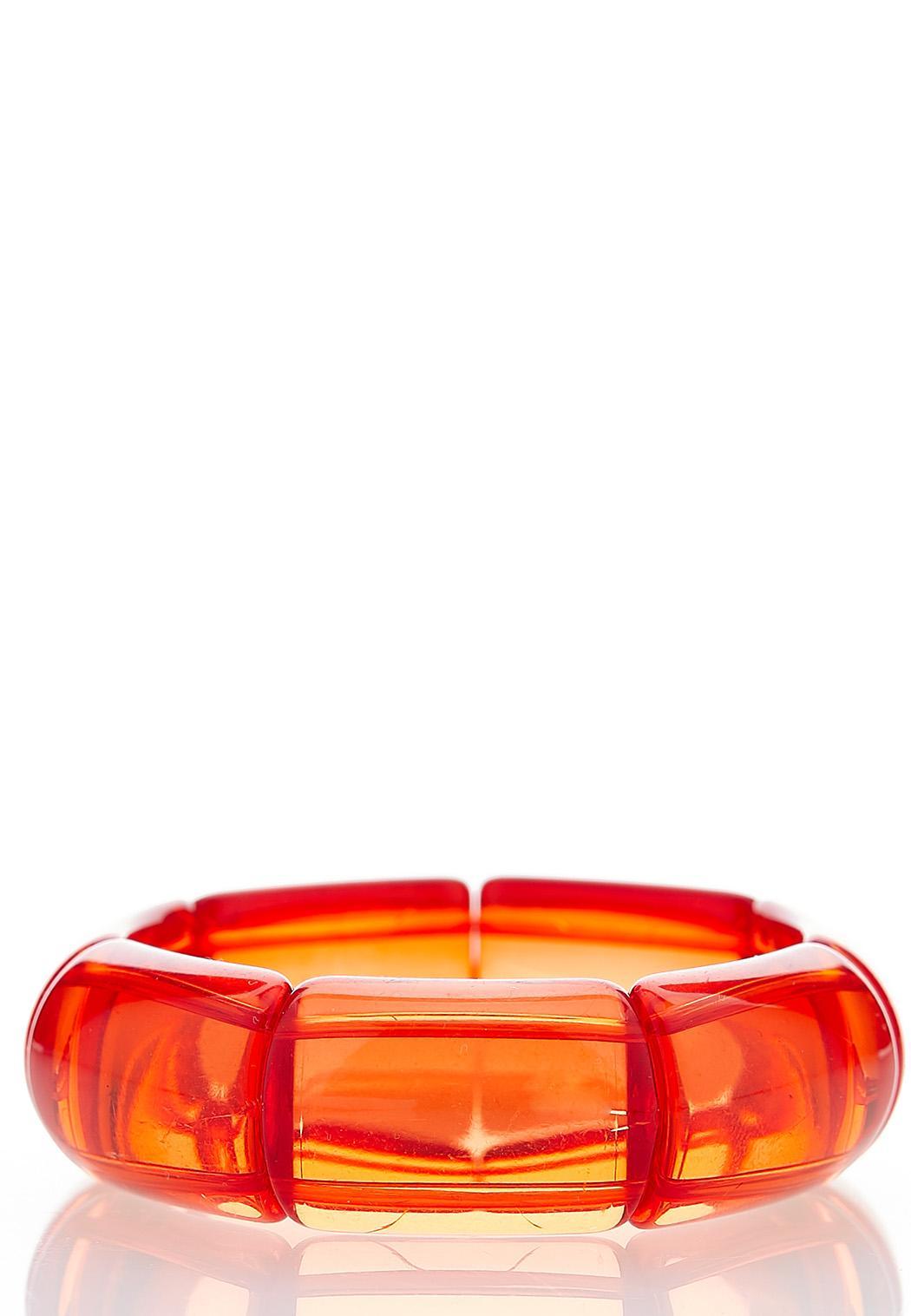 Lucite Color Stretch Bracelet