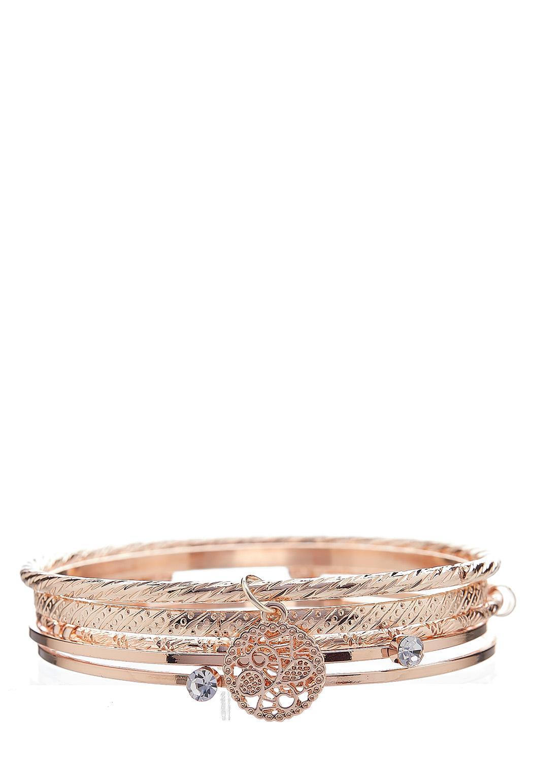 XL Gold Bangle Bracelet Set