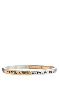 Faith Hope Love Stretch Bracelet