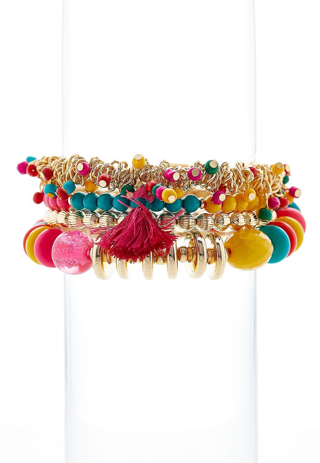 Golden Tassel Stretch Bracelets