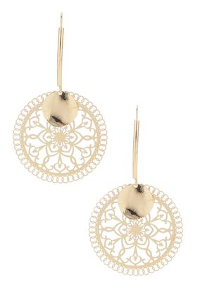Filigree Circle Wire Earrings