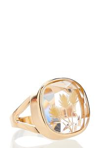 Flower Infused Gold Ring