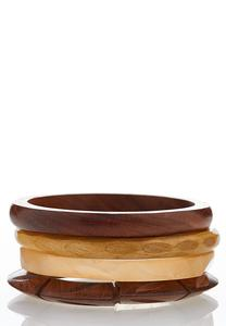 Wooden Stacking Bangles