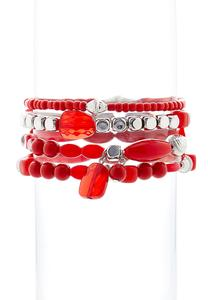 Red Stacking Bracelets