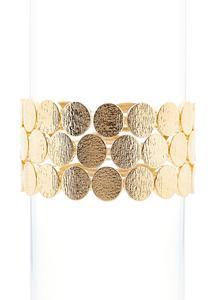 Gold Circle Stretch Bracelets