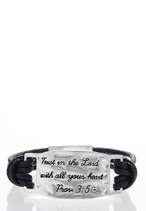 Trust in the Lord Cord Bracelet