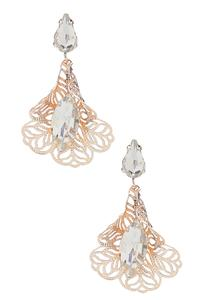 Filigree Rhinestone Dangle Earrings