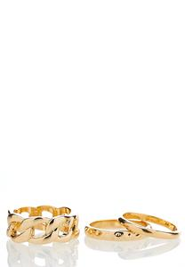 Gold Chain Stacking Rings