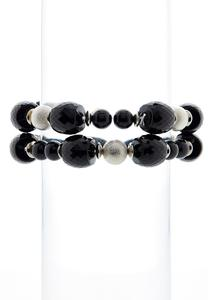 Faceted Bead Stretch Bracelet Set
