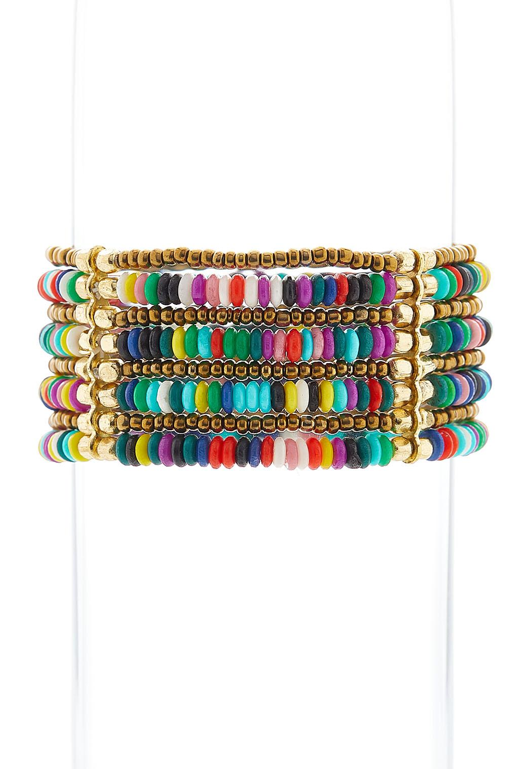 Layered Rainbow Stretch Bracelet