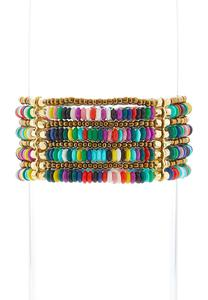 Layered Rainbow Stretch Bracelet