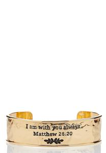 With You Always Cuff Bracelet