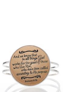 Romans Scripture Cuff Bracelet