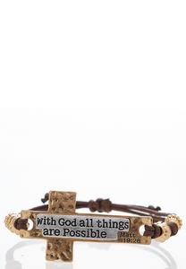 All Things Possible Cord Bracelet