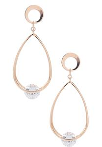 Cubic Zirconia Tear Earrings