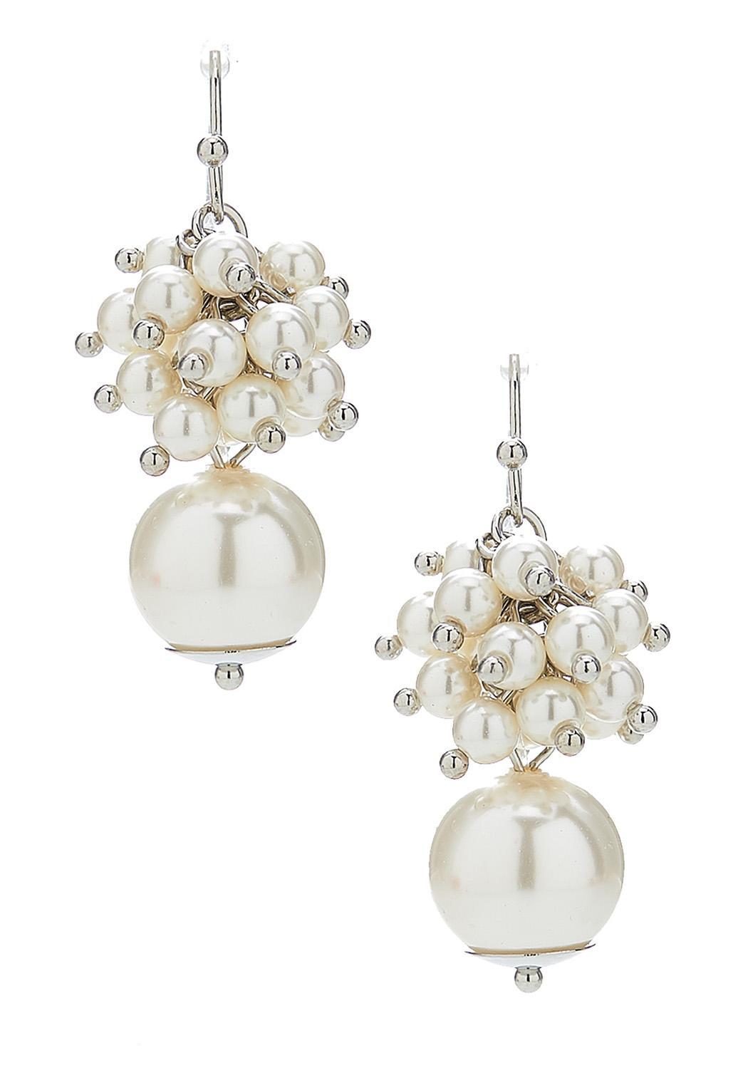 Cluster Pearl Earrings